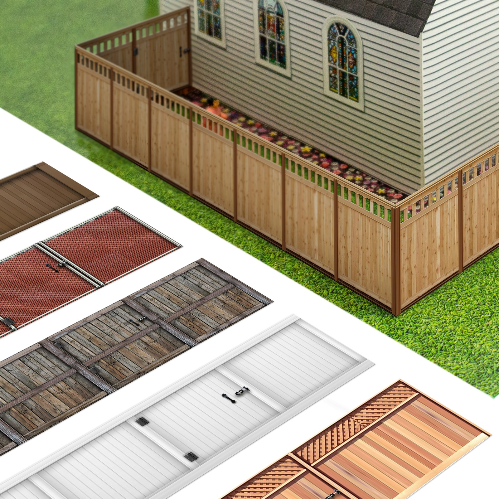 BK 9000 1/64 Scale Photo Real Fence Kits