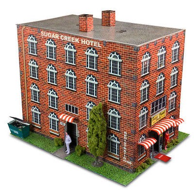 """BK 6407 1:64 Scale """"Hotel"""" Photo Real Scale Building Kit"""