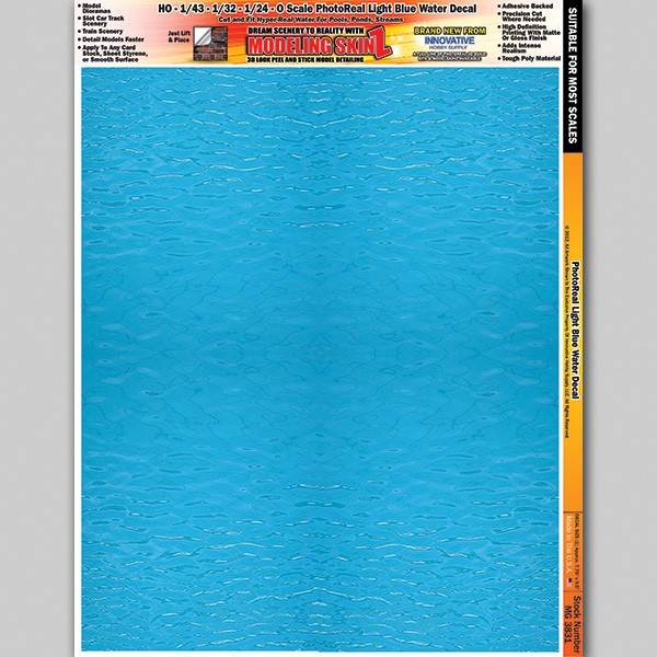"""MG 3831 """"Light Blue Water"""" Photo Real 3D Modeling SkinZ"""