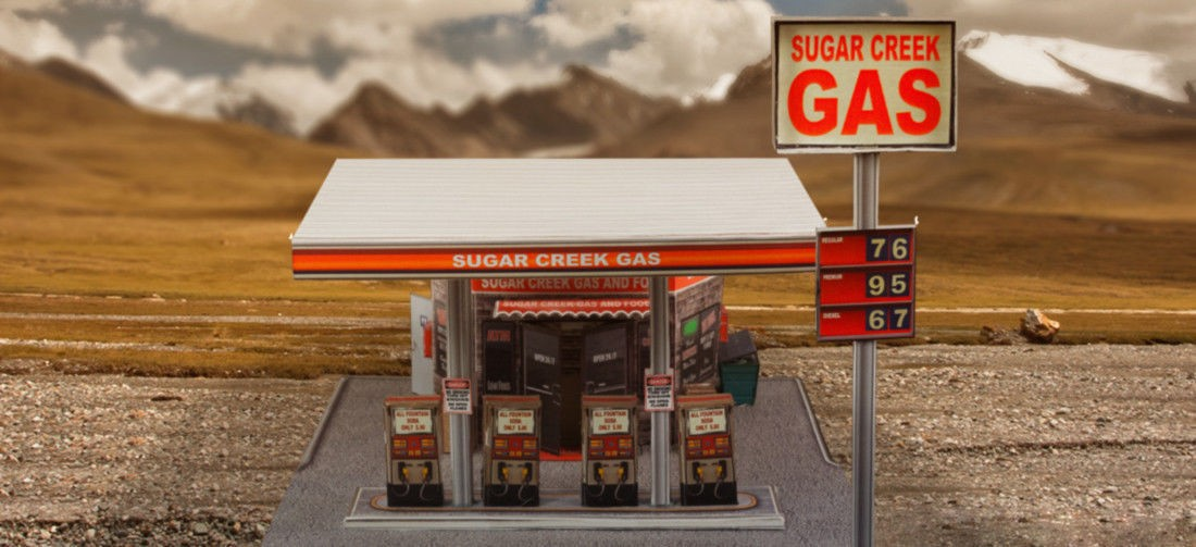 """BK 6408 1:64 Scale """"Gas Station"""" Photo Real Scale Building Kit"""