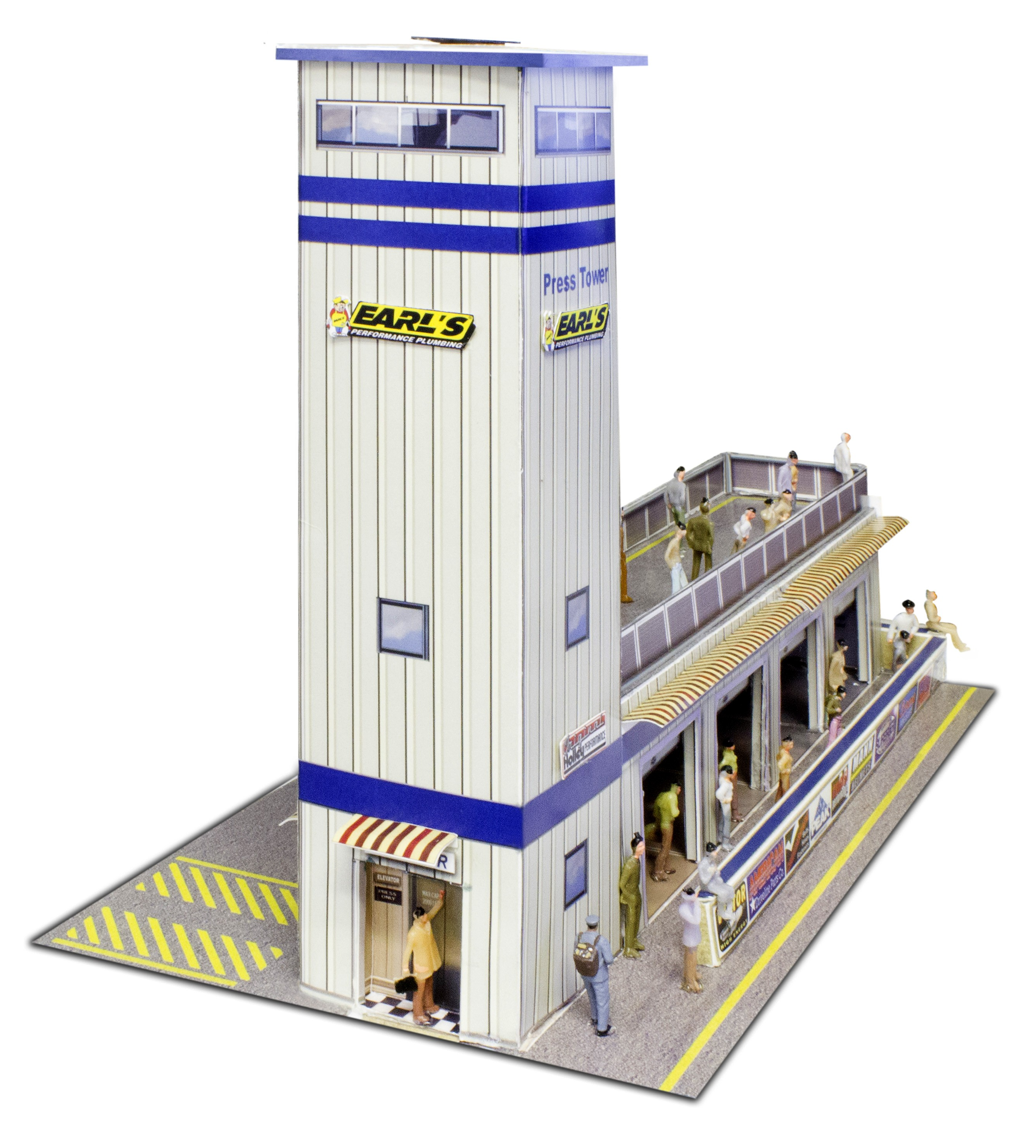 "BK 6424 1:64 Scale ""Press & Media Tower"" Photo Real Scale Building Kit"