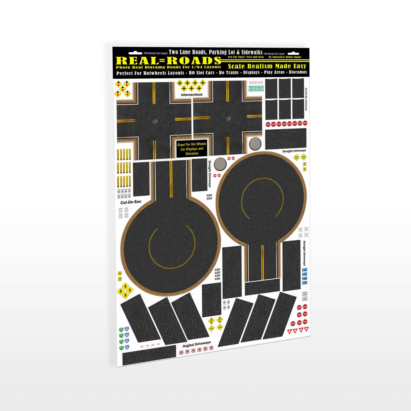 MG 9002 1/64 Scale Model Real Roads STYLE-2 Intersections & Cul-de-sacs