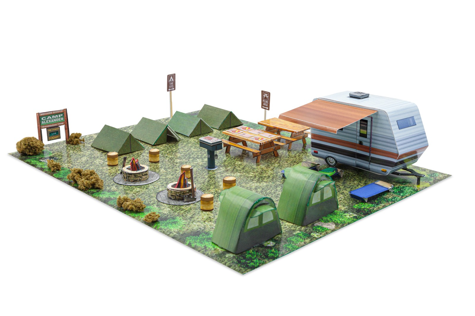 BK 4838 1:48 Scale Scout Camp Model Building Kit