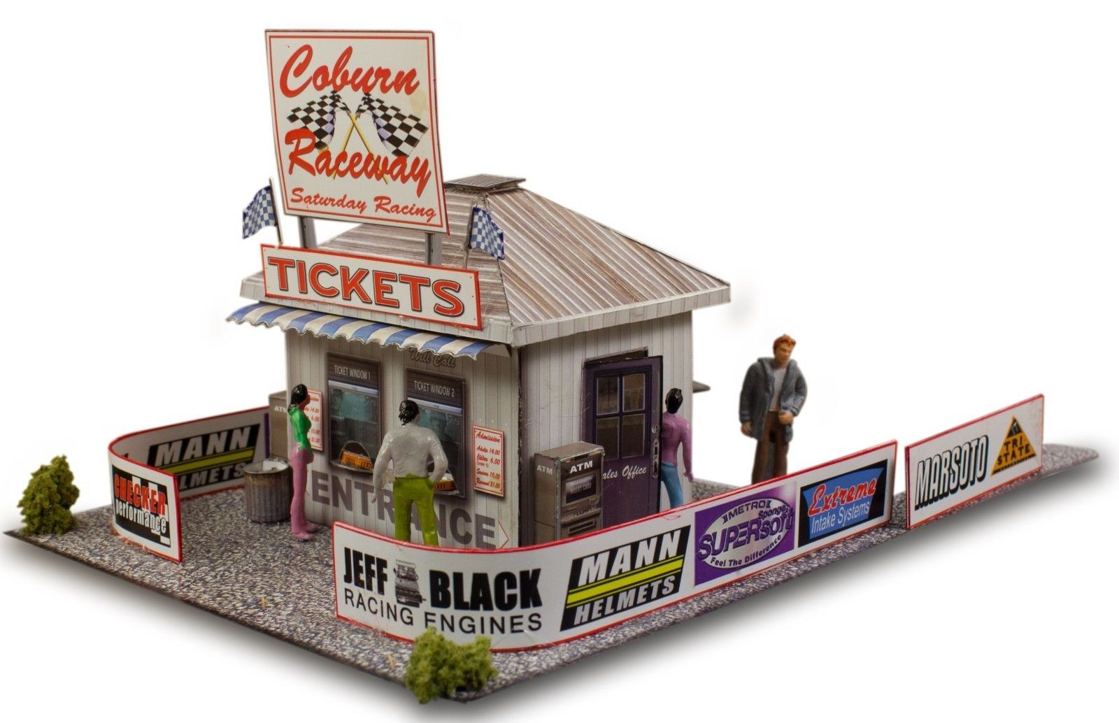 """BK 6406 1:64 Scale """"Ticket and Gate Entrance"""" Photo Real Scale Building Kit"""