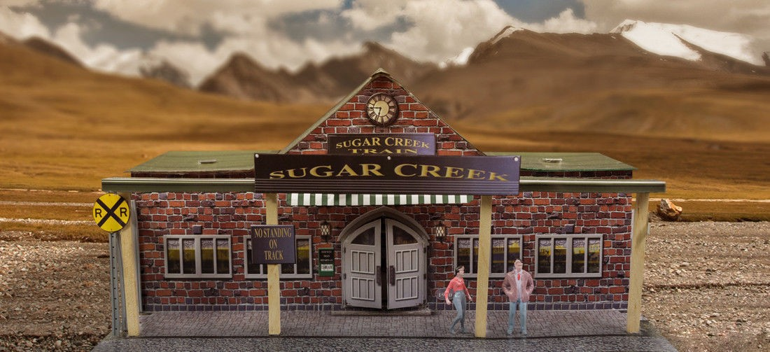 """BK 6417 1:64 Scale """"Train Station"""" Photo Real Scale Building Kit"""