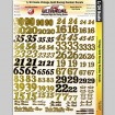 MG 3423 Utracal - Vintage Gold Racing Numbers - High Definition Racing Decals for 1:24 scale