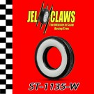 ST 1135-W 1/32 Scale Slot Car Whitewall Tire for Early Revell, Marx 2-Piece Wheel, Ferrari, GTO, & others with Aluminum Chassis