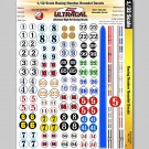 MG 3300 Ultracal Racing Numbers and Roundel Decals for 1:32 Scale Applications