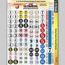 MG 3400  1:24 scale  Ultracal Decals - Racing Numbers and Roundels
