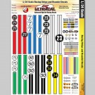 MG 3403 Ultracal Racing Stripe and Roundel Decals for 1:24 Scale Applications