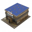 BK 6434 1:64 Scale Slot Car Coin Laundry Laundromat Building Kit