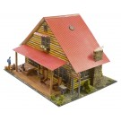 """BK 4816 1:48 Scale """"Log Cabin"""" Photo Real Scale Building Kit"""