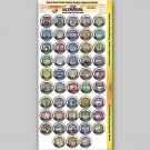 MG 1910 Ultracal Decals - Round Toolbox Organizer Decals