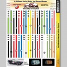 MG 3103 Ultracal Racing Stripes and Roundel Decals 1:64 HO Scale