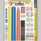 MG 3456 Ultracal Seat Belt, Stripes & Accessory Decals for 1:24 Scale Applications