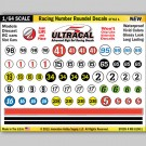 MG 6100-1 Ultracal Racing Number Roundel Decals Style 1 1:64 Scale