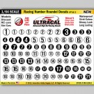 MG 6100-2 Ultracal Racing Number Roundel Decals Style 2 1:64 Scale