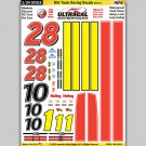 MG 6456-1 Ultracal Racing Dirt Track Racing Decals Style 1 1:24 Scale