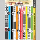 MG 3427 Ultracal Offset Roundel Racing Stripe Decals for 1:24 Scale