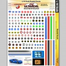 MG 3100 Ultracal Racing Numbers and Roundel Decals 1:64 HO Scale