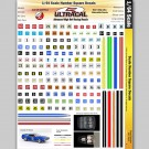 MG 3101 Ultracal Racing Numbers and Square Decals 1:64 HO Scale