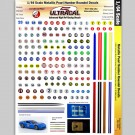 MG 3106 Ultracal Racing Metallic Pearl Number Roundel Decals 1:64 HO Scale