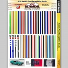 MG 3107 Ultracal Racing Metallica Pearl Racing Stripe Decal 1:64 HO Scale