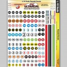 MG 3200 Ultracal Racing Numbers and Roundel Decals 1:43 O Scale