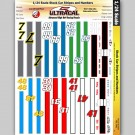 MG 3441 Utracal - Stock Car Racing Stripes & Numbers - High Definition Racing Decals for 1:24 scale