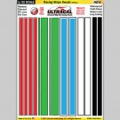 MG 6304-1 Ultracal Racing Stripe Style 1 Decals 1:32 Scale