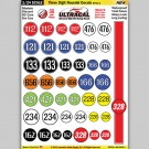 MG 6402-1 Ultracal Three Digit Roundel Decals Style 1 Decals 1:24 Scale
