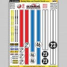 MG 6403-1 Ultracal Racing Stripe and Roundel Style 1 Decals 1:24 Scale