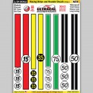 MG 6403-2 Ultracal Racing Stripe and Roundel Decals Style 2 1:24 Scale