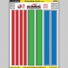 MG 6404-1 Ultracal Racing Stripe Decals Style 1 Decals 1:24 Scale