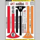 MG 6418-2 Ultracal Fat Head Racing Stripe Style 2 Decals 1:24 Scale