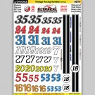 MG 6420-2 Ultracal Vintage Racing Numbers Style 2 Decals 1:24 Scale