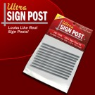 PR 7445 Ultra Sign Post Kit - Round Style Scale Sign Posts