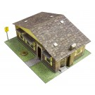 """BK 6421 1:64 Scale """"Red Brick Rambler"""" Photo Real Scale Building Kit"""
