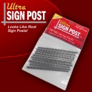 PR 7450 Ultra Sign Post Kit - Looks Like Real Sign Posts