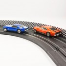 PL 5051 AFX Slot Car Guard Rail Set - PhotoReal FITS: Aurora, Model Motoring FITS: 1/64 & 1/43 Scale -Style 5 White Checker Board