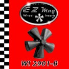 WI 2901-B Black Classic Five Spoke Mag EZ Mag Wheel Inserts
