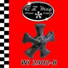 "WI 2902-B Black Five Spoke ""Keystone"" Style EZ Mag Wheel Inserts"