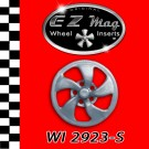 WI 2923-S Silver Eliptical Style EZ Mag Wheel Inserts
